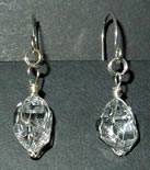 Quartz crystal dangle earrings.