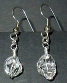 Herkimer crystal earrings.