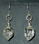 Water clear Herkimer crystal earrings.