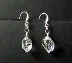 Sparkly Herkimer Diamond Dangle Earrings