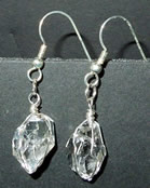 Large pair of Herkimer Diamond earrings.