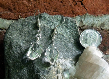 Herkimer Diamonds wrapped in sterling silver wire.
