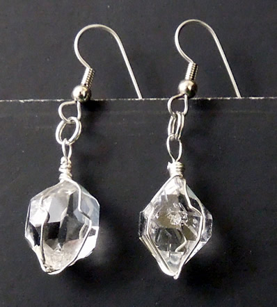 Set of Herkimer earrings