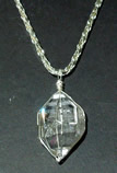 Large tabby crystal pendant.