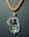 Quartz crystal pendant.