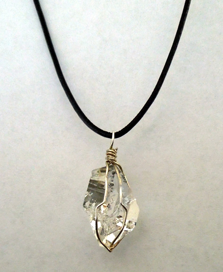 Raw Herkimer Diamond Necklace