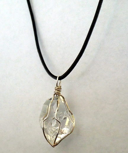 Herkimer crystal necklace.