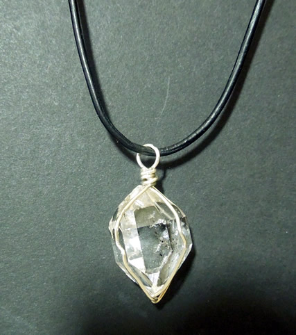 Shows Herkimer crystal with excellent clarity.