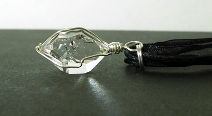 Water clear Herkimer Diamond necklace.