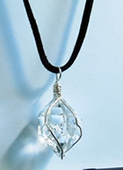 Natural Wire Wrapped Quartz Crystal Necklace
