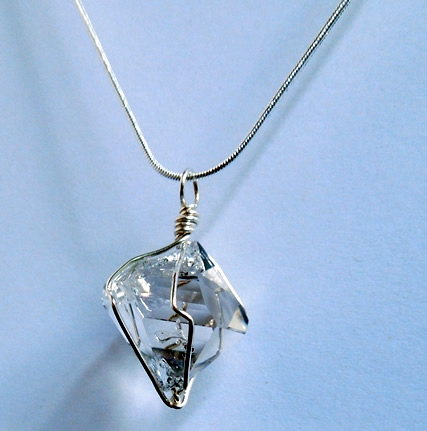 A herkimer diamond with a cool shape.