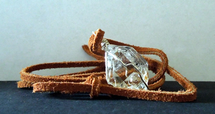 Natural quartz crystal with excellent clarity.