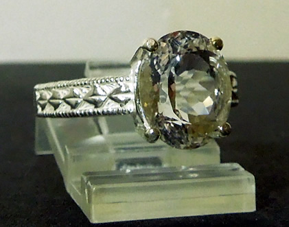 Picture of Herkimer crystal ring.