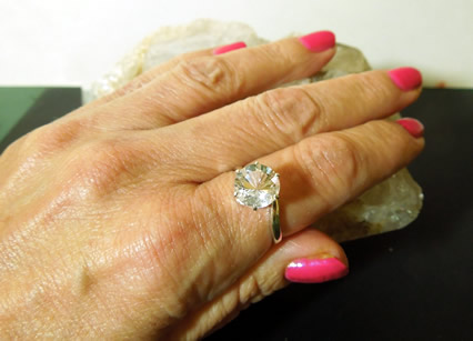 Ring shown on model.