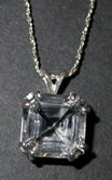 Faceted Herkimer Diamond Pendant