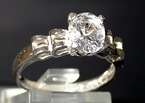Oval cut diamond ring.