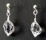 Natural Herkimer Diamond Crystal Dangle Earrings