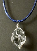 Herkimer crystal and sterling silver necklace.
