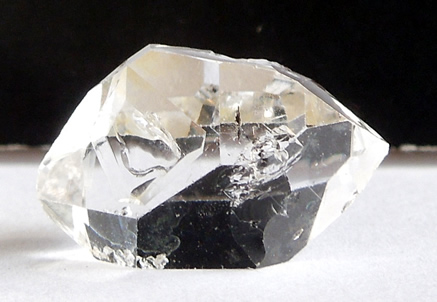 Water clear quartz gem.