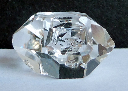 Photographs of raw, or natural Herkimer Diamond