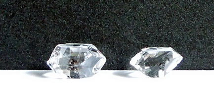 Water clear and double terminated quartz crystals