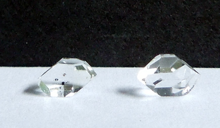 Pair of Herkimer Diamonds