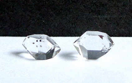Matching set of Herkimer Diamonds.