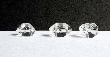 Three of the five crystals for sale.