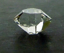 Photograph of a Herkimer Diamond crystal.