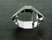 The Herkimer Diamond weighs 1.3 ct.