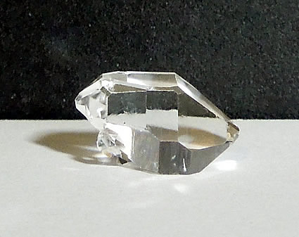 Photo of a Herkimer crystal with excellent clarity.