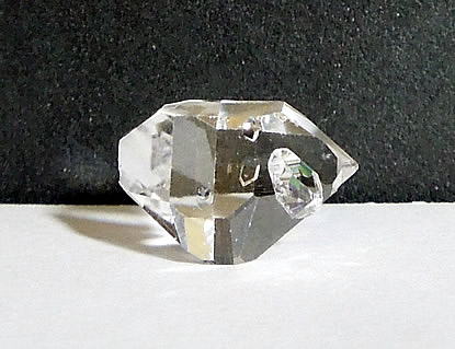 Natural double terminated crystal with baby bridge.