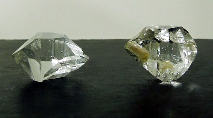 Pair of matching Herkimer Diamonds seen here.