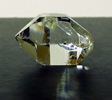 Shows rich hue of double terminated crystal.
