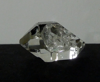 Herkimer twin crystal with bridge crystal.