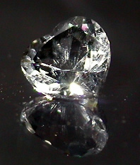 Size 6 mm heart cut crystal.