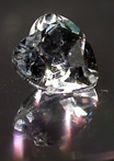 Faceted heart shaped Herkimer Diamond