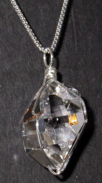 Herkimer diamond crystal pendant or pendulum glamorous with excellent clarity this is an exceptional herkimer diamond crystal pendant or pendulum aloadofball Gallery