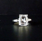 Machine Faceted Herkimer Diamond Ring