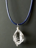 Quality natural Herkimer crystal pendant.