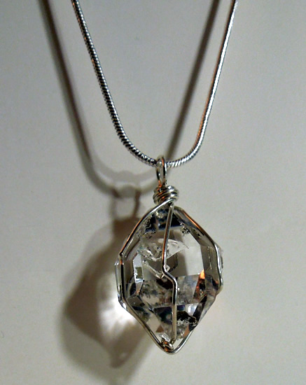 Herkimer weighs 36+ ct., measures 26x18x14.5 mm.