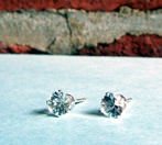 Herkimer Diamond & Sterling Ear Studs