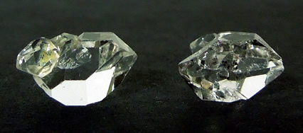 Both crystals for sale are water clear.
