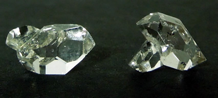 Picture of the 2 smallest crystals in the group.