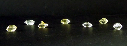 Golden healers and clear Herkimer Diamonds.
