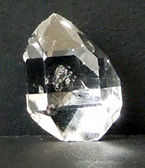 Clear double terminated Herkimer crystal.