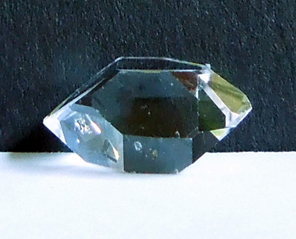 Large Herkimer Diamond crystal with excellent clarity.