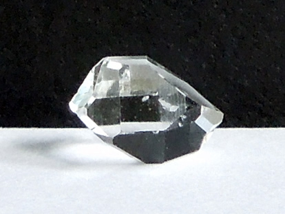 Herkimer Diamond with fluid filled inclusion, or enhydro.