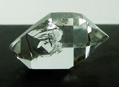 Sharp natural double terminated quartz crystal.