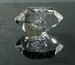 Pictures of a brilliant Herkimer Diamond crystal.